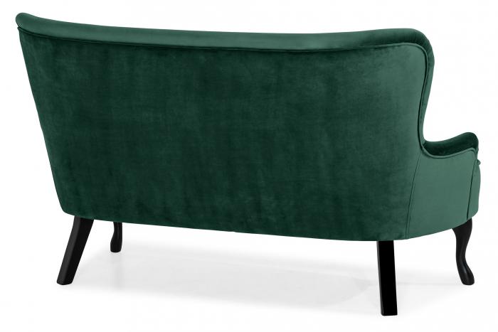 Canapea Diana 3H, Verde inchis, 140x86x67 cm 3