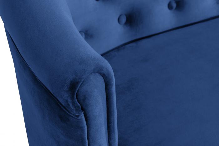 Canapea Mada, Albastru, 140x74x68 cm 5