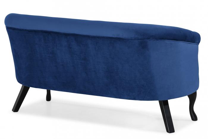 Canapea Mada, Albastru, 140x74x68 cm 3