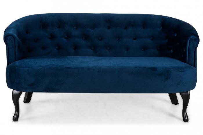 Canapea Mada, Albastru petrol, 140x74x68 cm 3