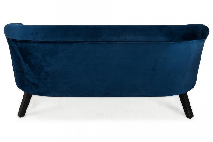 Canapea Mada, Albastru petrol, 140x74x68 cm 2