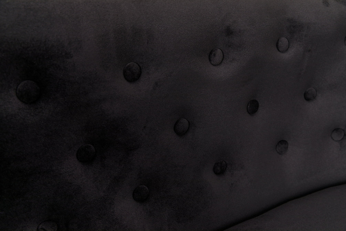 Canapea Mada, Negru, 140x74x68 cm 7