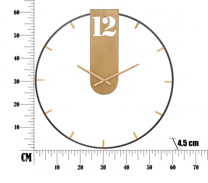 Ceas de perete GOLDY CM Ø 60X4,5, Mauro Ferretti [5]