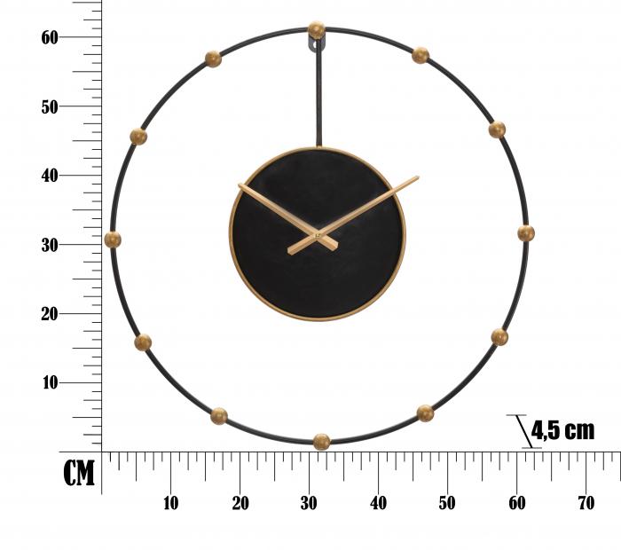 Ceas de perete PEARL CM Ø 61X4,5, Mauro Ferretti 5