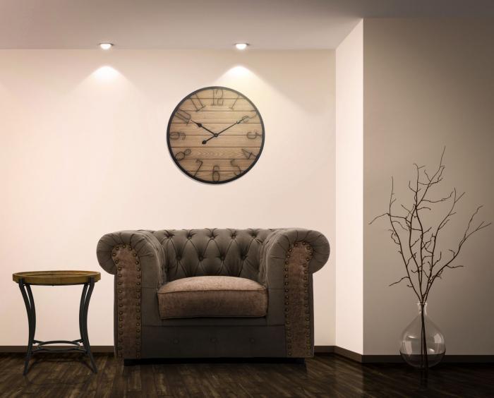 Ceas de perete WOOD, 60X4.5 cm, Mauro Ferretti  4