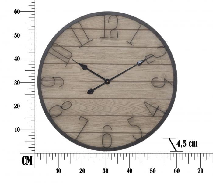 Ceas de perete WOOD, 60X4.5 cm, Mauro Ferretti  5
