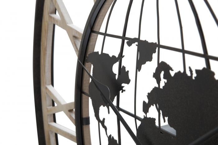 Ceas de perete WORLD, 70X5 cm, Mauro Ferretti 3