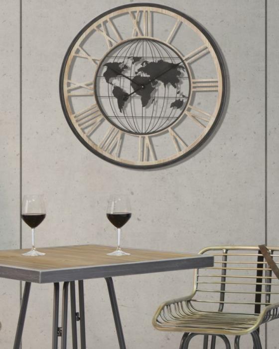 Ceas de perete WORLD, 70X5 cm, Mauro Ferretti 5