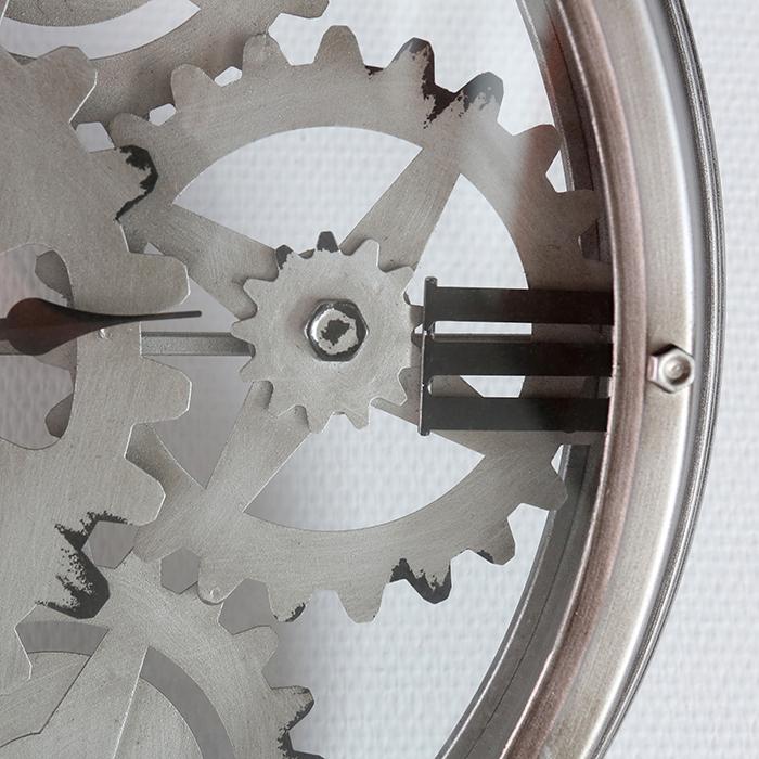 Ceas de perete LOFT, metal, 60x8 cm 3