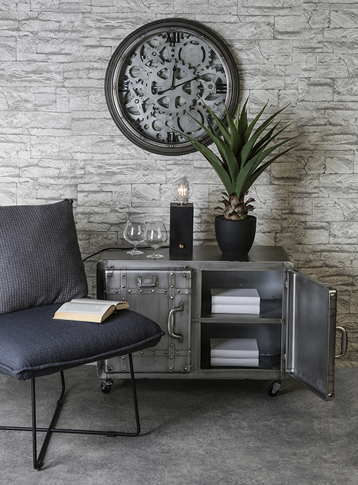 Ceas de perete LOFT, metal, 60x8 cm 1