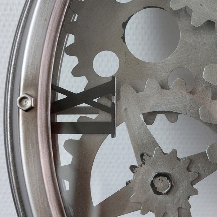 Ceas de perete LOFT, metal, 60x8 cm 5
