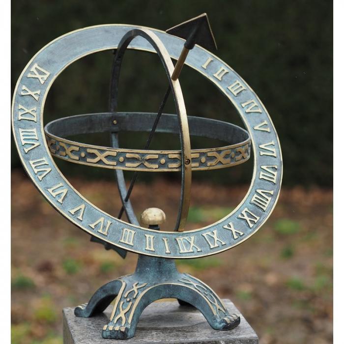 Ceas solar de bronz Sundial 42 cm 1