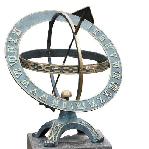Ceas solar de bronz Sundial 42 cm 0