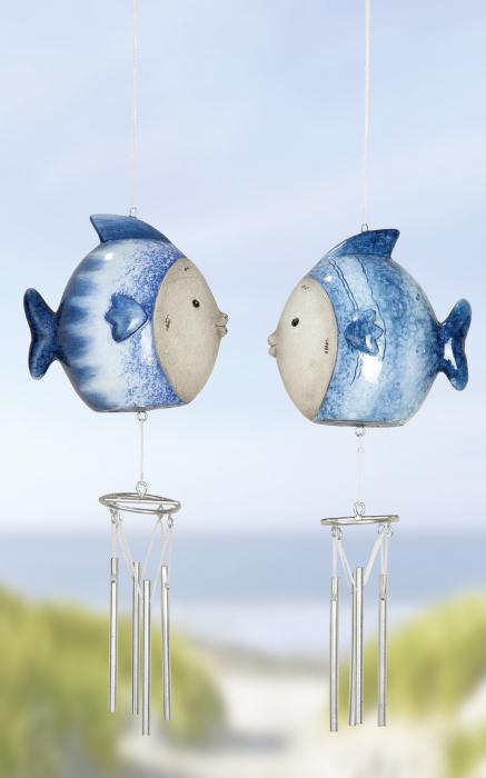 Clopotel de vant OCEAN, ceramica, 26x6x10 cm 1