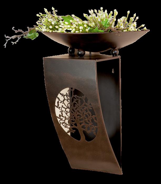 Consola flori TREE, metal, 65x28x52 cm 2