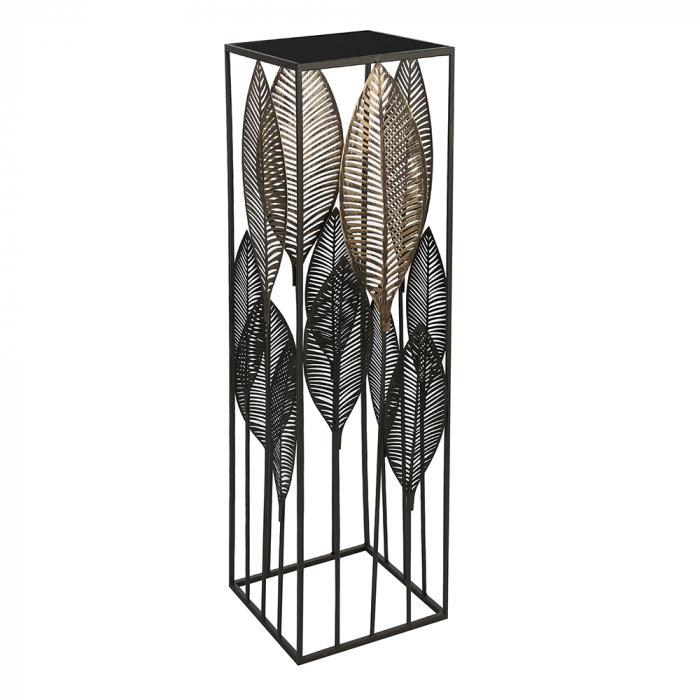 Consola PALM LEAVES, metal/sticla, 100x27x27 cm [0]