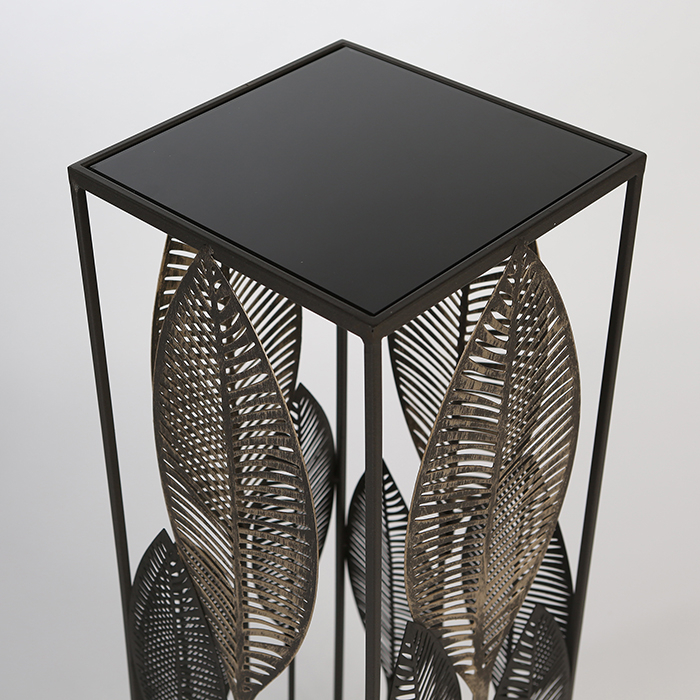 Consola PALM LEAVES, metal/sticla, 100x27x27 cm [3]