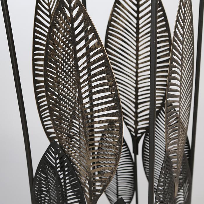 Consola PALM LEAVES, metal/sticla, 80x27x27 cm 2