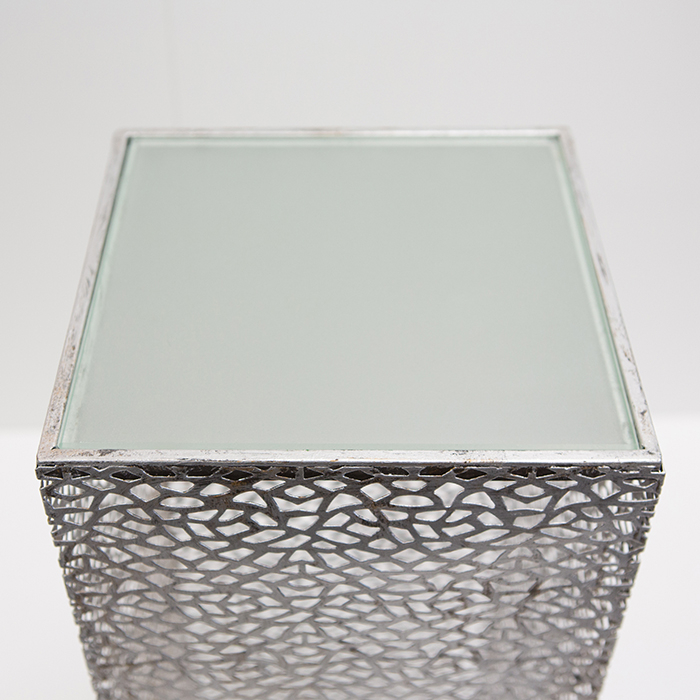 Consola PURLEY, metal/sticla, 100x27x27 cm 2