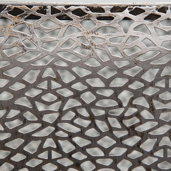 Consola PURLEY, metal/sticla, 100x27x27 cm 3