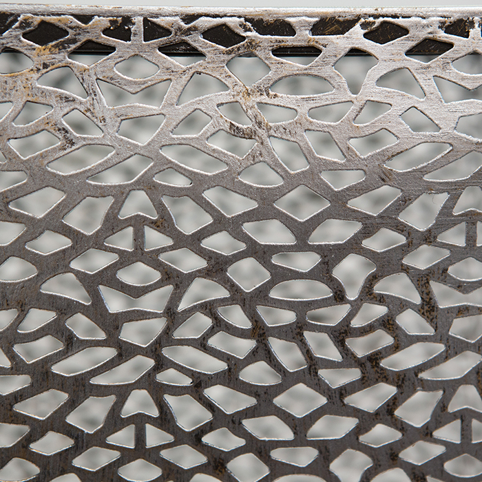 Consola PURLEY, metal/sticla, 70x27x27 cm 3