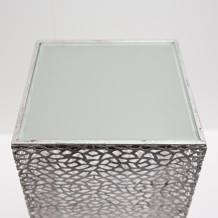 Consola PURLEY, metal/sticla, 70x27x27 cm 2