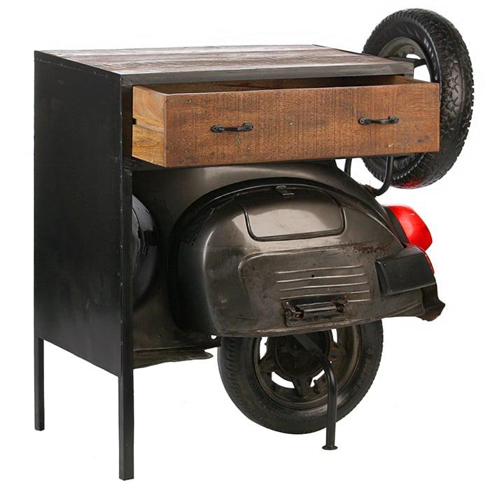 Consola Scooter, metal mango, 90x47x87 cm imagine 2021 lotusland.ro