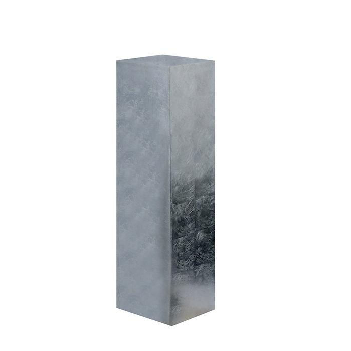 Consola Solid argintiu, rasina fibra de sticla, 27x27x100 cm imagine 2021 lotusland.ro