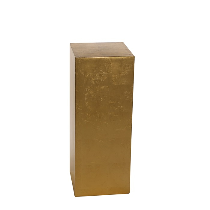 Consola Solid, fibra de sticla, auriu, 70x27x27 cm imagine 2021 lotusland.ro