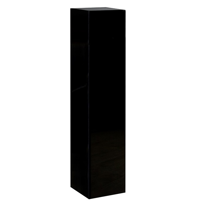 Consola Solid negru, rasina fibra de sticla, 27x27x120 cm imagine 2021 lotusland.ro