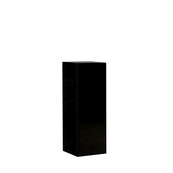 Consola Solid negru, rasina fibra de sticla, 27x27x70 cm 2021 lotusland.ro