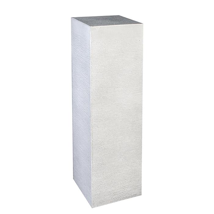 Consola Stripes alb , rasina fibra de sticla, 28x28x100 cm imagine 2021 lotusland.ro