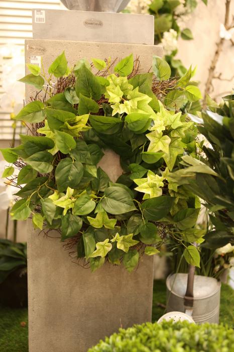 Coronita decorativa Ivy, artificial, verde, 50 cm 0