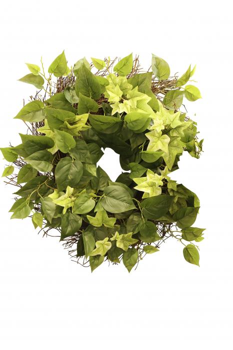 Coronita decorativa Ivy, artificial, verde, 50 cm 1