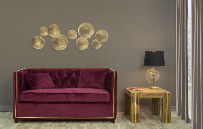 Corp de iluminat de perete cu 5 becuri DISHY, metal, 138X9X50 cm, Mauro Ferretti 8