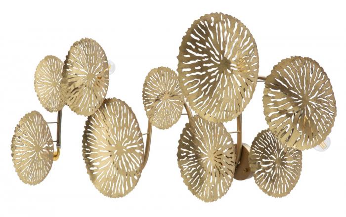Corp de iluminat de perete cu 5 becuri DISHY, metal, 138X9X50 cm, Mauro Ferretti 4