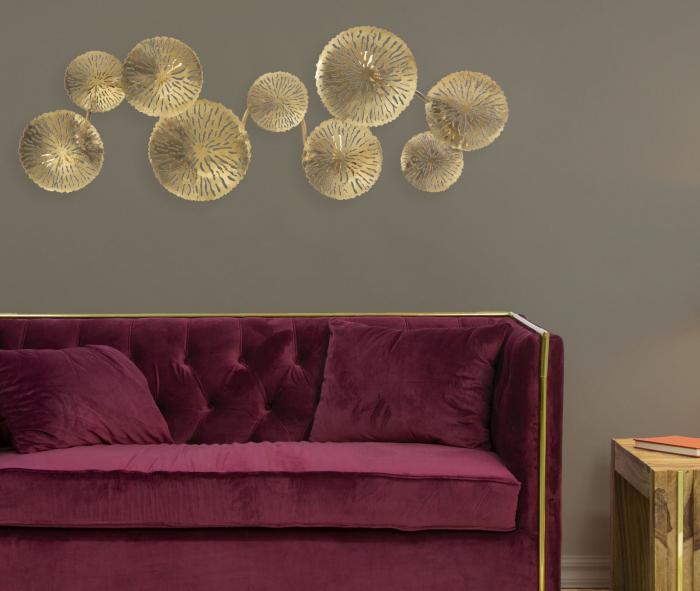 Corp de iluminat de perete cu 5 becuri DISHY, metal, 138X9X50 cm, Mauro Ferretti 7