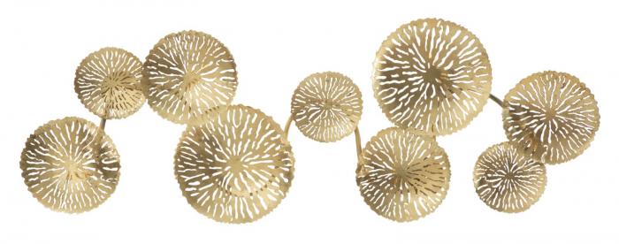 Corp de iluminat de perete cu 5 becuri DISHY, metal, 138X9X50 cm, Mauro Ferretti 0