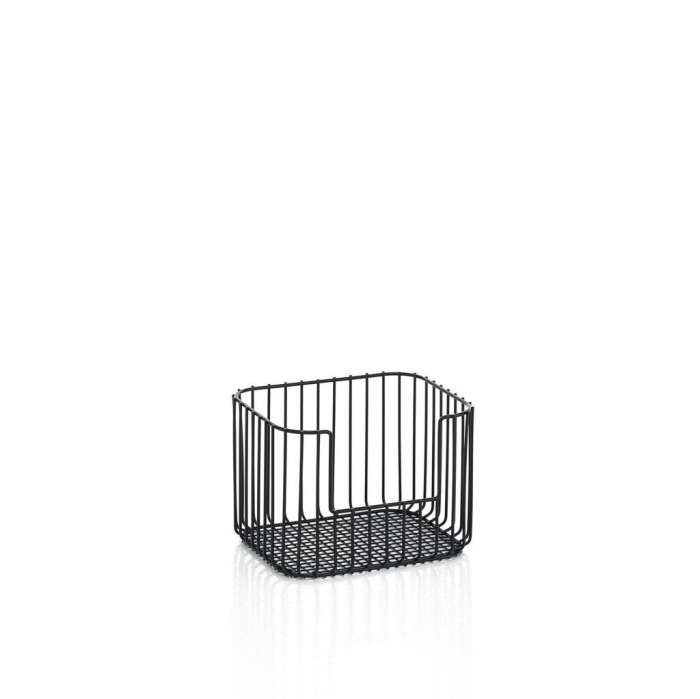 Cos pentru depozitare YOORI, Metal, Negru, 28x22.5x19.5 cm imagine 2021 lotusland.ro