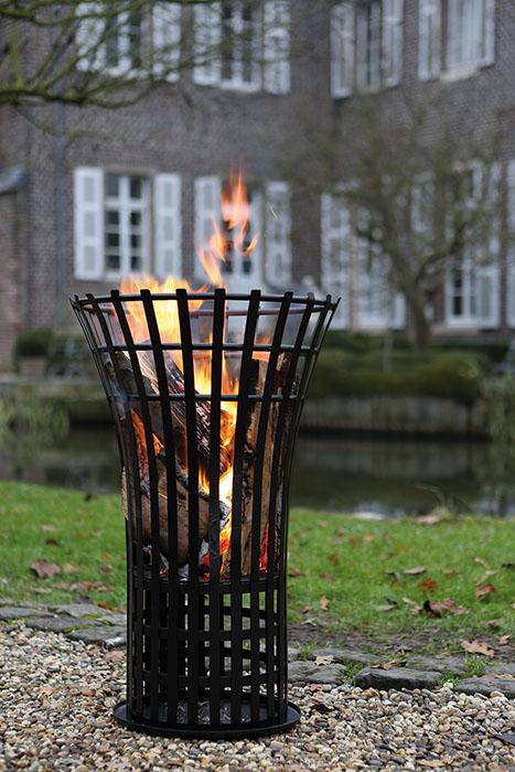 Cos pentru foc FIRE, metal, 79x53 cm 1