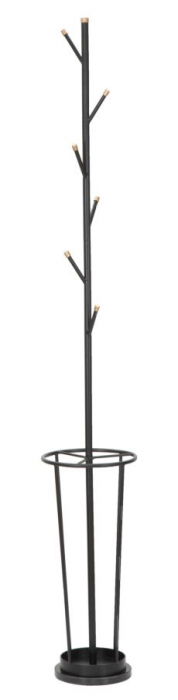 Cuier cu suport pentru umbrele GLAM negru (cm)O 26X176 imagine 2021 lotusland.ro