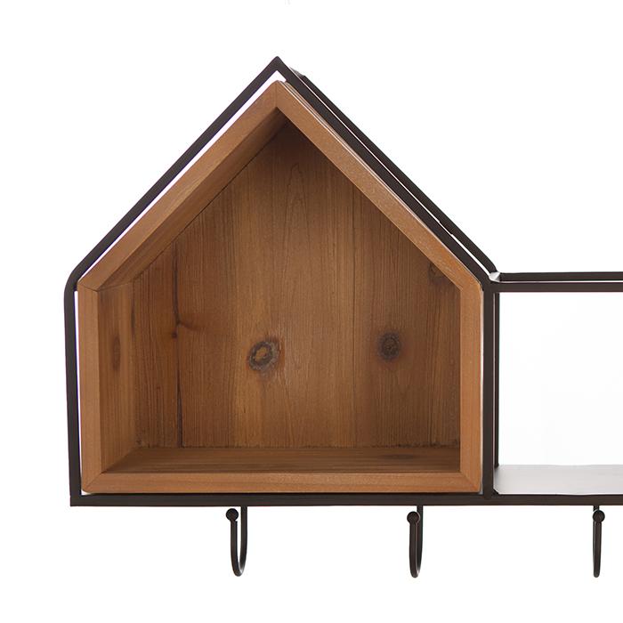 Cuier  HOUSE, lemn/metal, 68x30 cm 1
