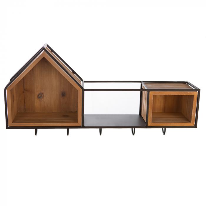 Cuier  HOUSE, lemn/metal, 68x30 cm 0