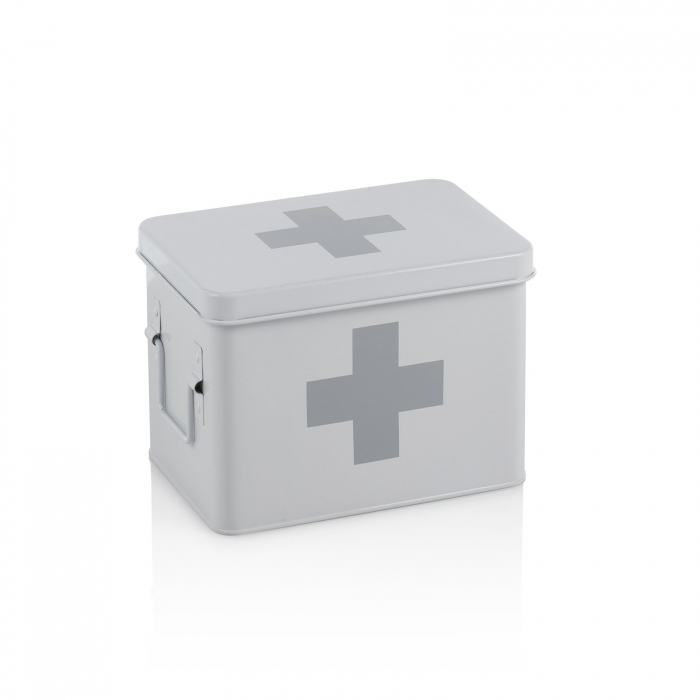 Cutie de prim ajutor DOC, Otel, Alb, 22x16x16.5 cm imagine 2021 lotusland.ro
