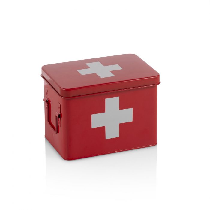 Cutie de prim ajutor DOC, Otel, Rosu, 22x16x16.5 cm imagine 2021 lotusland.ro
