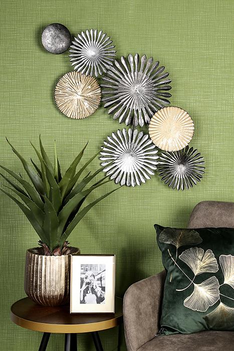 Decoratiune de perete Rustic, metal, multicolor, 7x88x45 cm [1]