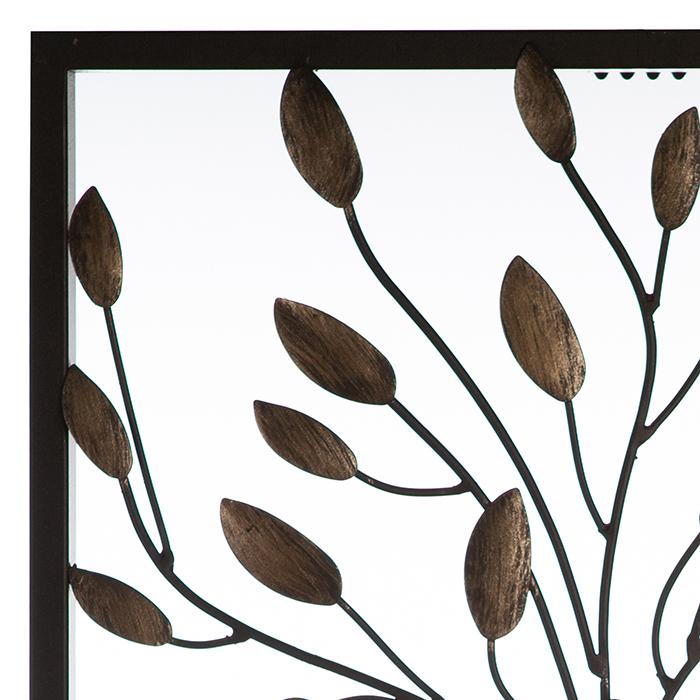 Decoratiune de perete TREE COUPLE, metal, 50x30 cm 1