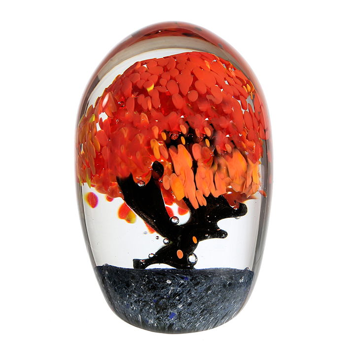 Decoratiune AUTUMN TREE, sticla, 15x10 cm 0