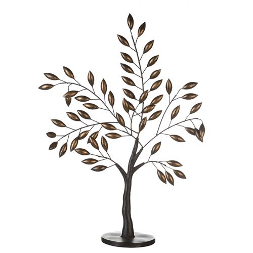 Decoaratiune Oak, metal, auriu maro, 48x76 cm 2021 lotusland.ro