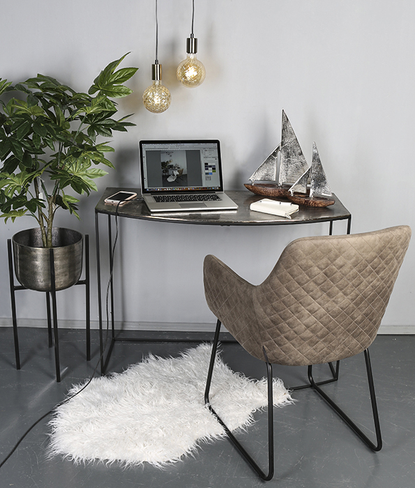 Decoratiune BOAT, lemn/aluminiu, 27x21x7.5 cm 1